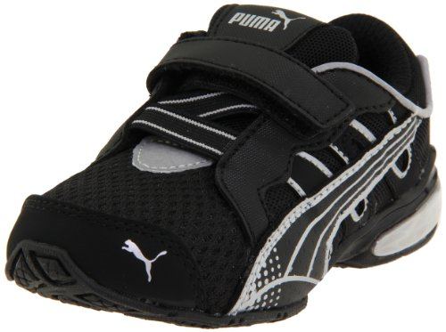Puma Voltaic 3 V Sneaker (Toddler/Little Kid),Black/Puma Silver,5 M US Toddler