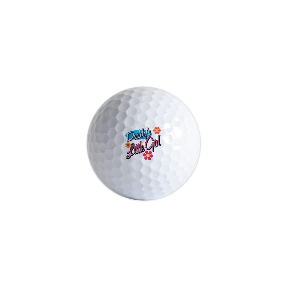 Golf Balls (Set of 3) Daddy's Little Girl with Flowers   Daughter
