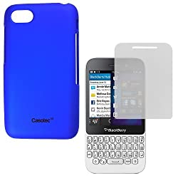 Casotec Ultra Slim Hard Shell Back Case Cover for BlackBerry Q5 - Dark Blue
