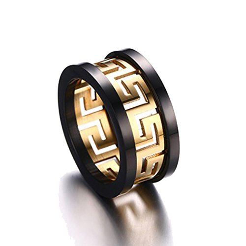 Time Pawnshop Fashion Personalize Stainless Steel Gold Plated Men Ring Size 11 US