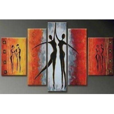 Sangu 100% Hand Painted 5-piece Maiden Dance for Abstract Oil Paintings Gift Canvas Wall Art Paintings For Living Room. (Auto Appraisal Tools compare prices)