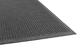 Guardian EcoGuard Indoor Wiper Floor Mat, Recycled Plastic and Rubber, 2\'x3\', Charcoal