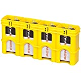 Storacell Powerpax 9V Battery Caddy, Yellow, 4-Pack