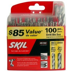 Skil 100 Piece Drill Bit Set Over $85 Value Precision Forged High Speed Steel for General Purpose Drilling