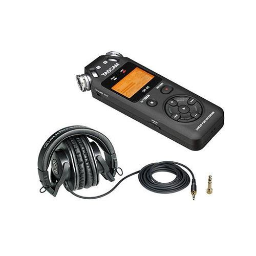 Tascam DR-05 Portable Handheld Digital Audio Recorder, - Bundle With Audio-Technica ATH-M30x Professional Monitor Headphones (Akg K 271 Mk Ii compare prices)