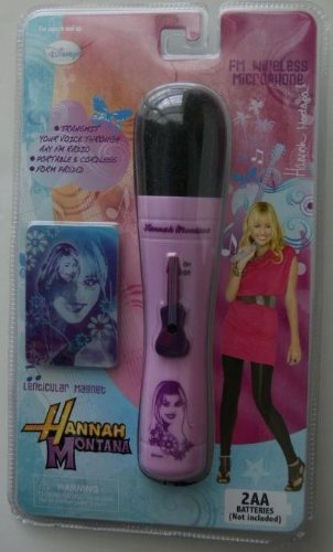 Disney Hanna Montana Fm Wireless Microphone and Lenticular Magnet - 1