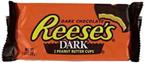 Reese's Peanut Butter Cups, Dark Chocolate, 1.5-Ounce Packages (Pack of 24)