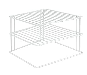 Metaltex 364202095 Silos Eck-Schrankeinsatz, 2-Etagen, 25 x 25 x 19 cm, weiß