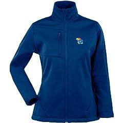 Antigua Ladies Kansas Jayhawks Traverse Fleece Back Full-Zip Jacket by Antigua