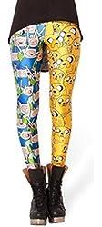 Amour-Celeb Inspired Adventure Time BMO Digital Print Leggings Pants Tights O/S (One Regular Size, LT3115)