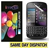 IMyth *PACK OF 10* BlackBerry Q10 BB Q10 Lcd Screen Protectors & Retail Packed + Application Card