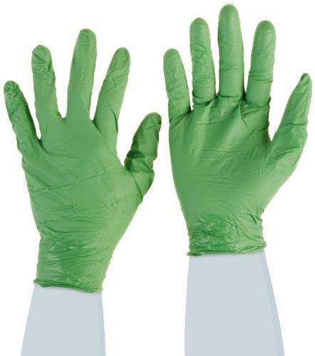 Showa Best 6105PFL Verde DEX-biodegradabile, extra-Guanti usa e getta, in Nitrile, usa e getta, senza polvere, spessore 4 mil 9-1/2, donna, taglia: L, colore: verde (Confezione da 100), modello: 6105PFL, Tools & Hardware store