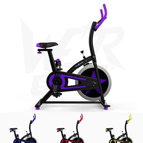 Aerobico Formazione Esercizio Bici Ciclo Fitness Cardio Allenamento Casa Ciclismo Corsa Macchina (Viola)