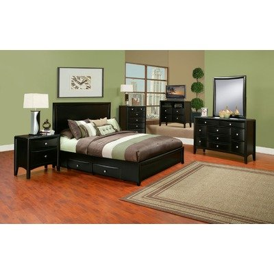 California King Storage Bed in Dark Espresso