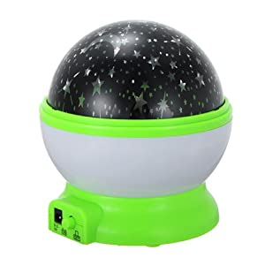Green Starry Star Master Moon Sky Romantic Night Projector Light Lamp by Beautymall