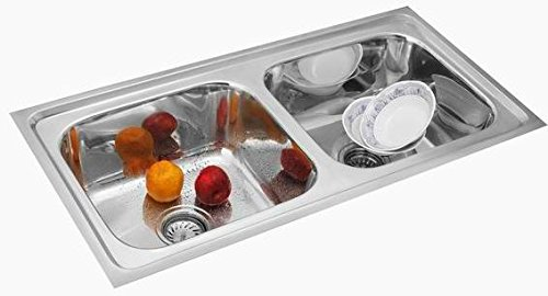 SILVERLINE SILVER LINE DOUBLE BOWL KITCHEN SINK