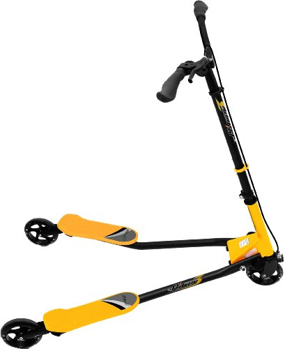 YVolution Y Fliker F3 Scooter - Black/Yellow