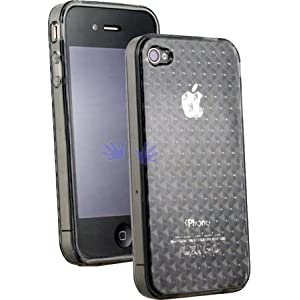 Apple iPhone 4G (Newest Model!) Semi-Hard Polymer Crystal Case (Smokey)