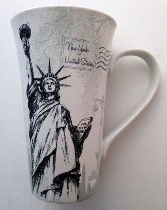 Postcard From New York City Tall Latte Fine China Mug