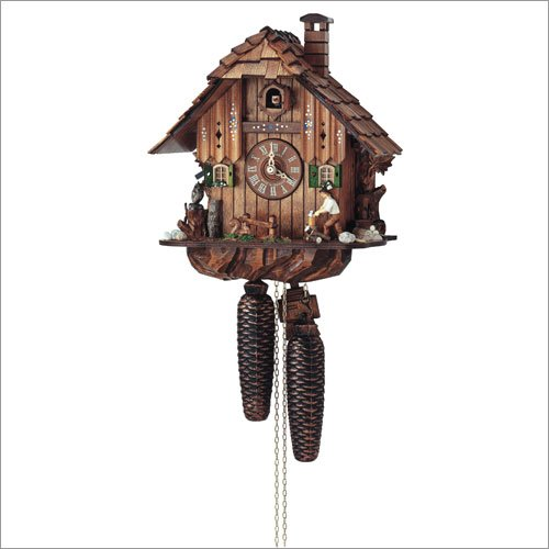 Schneider 12 Inch Black Forest Wood Chopper 8 Day Movement Cuckoo Clock