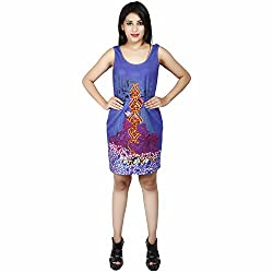LALANA Multicolor Ethnic Print Cotton Jersey Dress