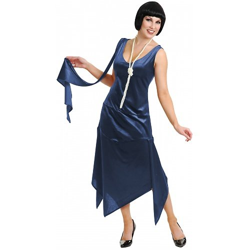 Sandy Speak Easy 1920s Great Gatsby Flapper Costume - Blue