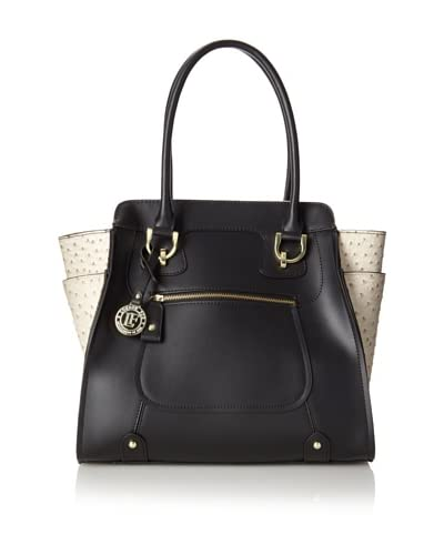 London Fog Women's Holden Tote Shoulder Bag  [Black]