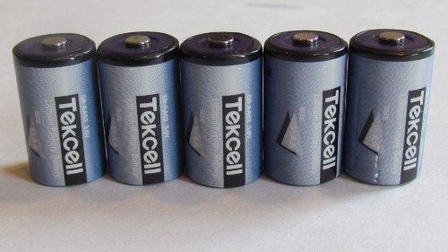 Tekcell 5-3.6 Volt 1/2 Aa Tekcell Lithium Wireless Adt Alarm Batteries