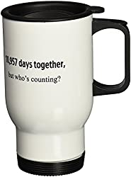 3dRose 10957 Days Together But Whos Counting, 30th Anniversary, Stainless Steel Travel Mug, 14-Oz