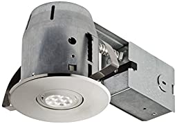 LED IC Rated Swivel Spotlight Recessed Lighting Kit Dimmable Downlight with 1x GU10 LED Bulb Included,, 4\