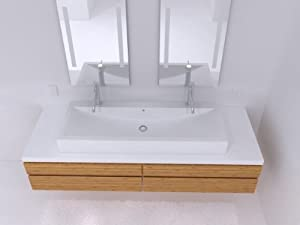 Cantrio Koncepts MMA-604 2-Hole Solid Surface Countertop Sink
