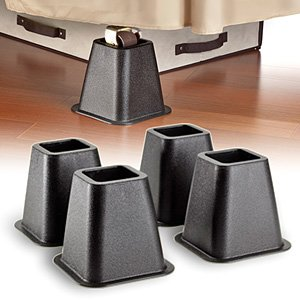 Trademark 6-Inch Black Bed Risers, 4-Pack