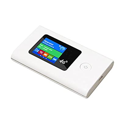 SANOXY 4G LTE High Speed Mobile WiFi Portable Mini Router for SIM cards. Wireless 150Mbps cat4 LTE router with LCD display