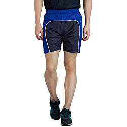 BURDY Solid Men's Blue Sports Shorts