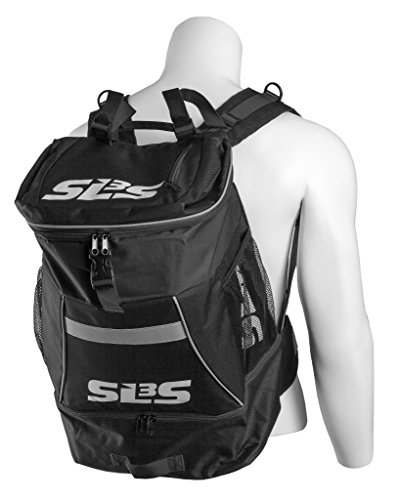 Triathlon Transition BackPack ✮ Large Tri Bag ✮ Ideal For Triathlon, Multisport, Cycling, Swimming or Hiking (Black)