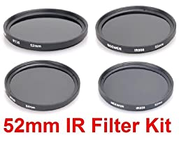 NEEWER® 52MM Infrared Camera Lens Filter Kit - 720 + 760 + 850 + 950nm - for Kodak, Fujifilm, Nikon, Canon Cameras + ANY Camera with a 52MM Filter Thread!