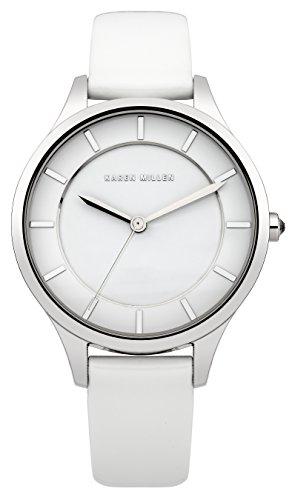Karen-Millen-Damen-Armbanduhr-Analog-Quarz-Leder-KM133W