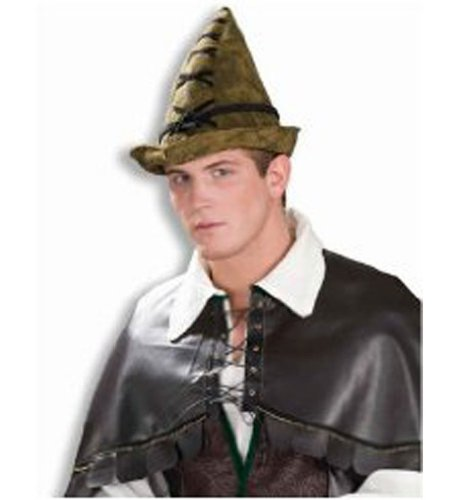 Deluxe Brown Robin Hood Hat - Deluxe Brown Robin Hood Hat For Legend Themed Costume