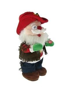 Singing Dancing Cowboy Santa Claus Holiday Decoration