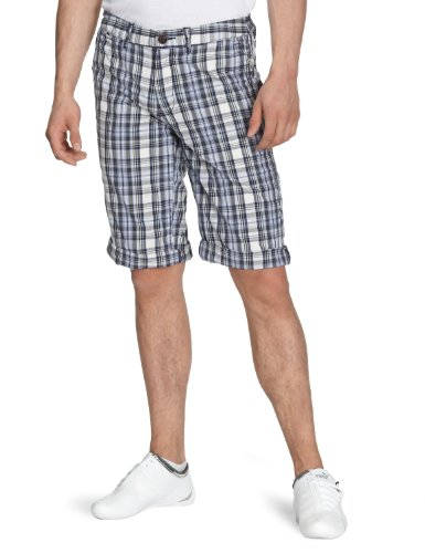 Hilfiger Denim Mens Sasha Blue Check Shorts Waist 36