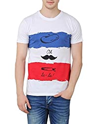 OMFG&CO Men's Cotton T-Shirt (IM-M-T_31_White_Large)