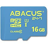 Abacus24-7 micro SD 16GB Memory Card [Class 10] with SD Adapter