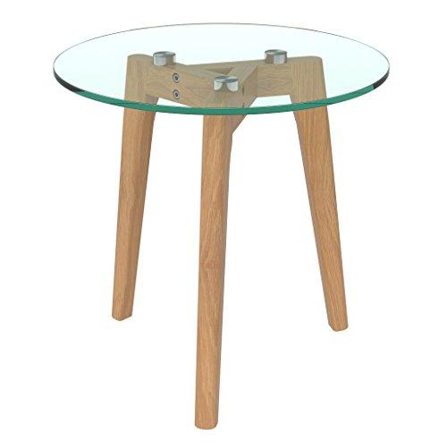 bonVIVO-Design-Couchtisch-Filippa-Beistelltisch-Im-Retro-Look-Mit-Glasplatte-Und-Massiv-Holz-Fssen-Aus-Eiche-In-Natur-Braun-Gro
