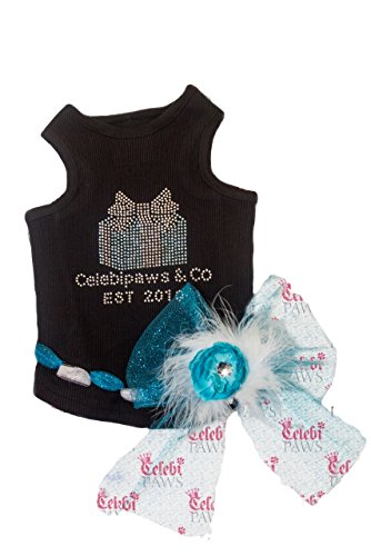Rhinestone Slit Puffer Tank Top for Dogs Celebipaws and Co (X-Small) (Sili Co compare prices)