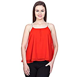 Glam Dollz Women's Top (3010Diam_Red_Large)