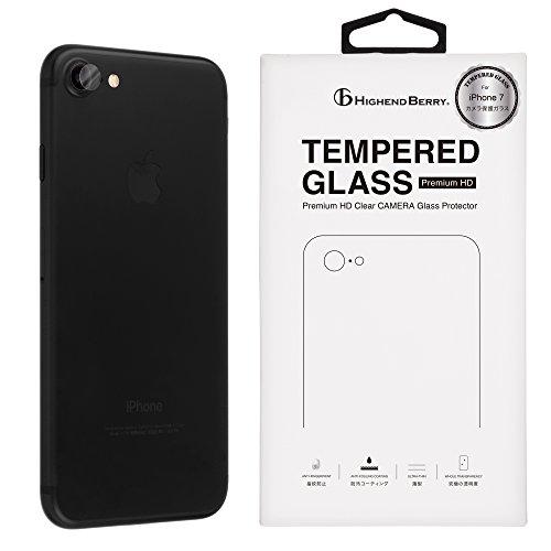 Highend berry iPhone7 カメラ 保護 ガラス アイフォン7 日本製 強化 ガラス フィルム 硬度9H (3枚セット)