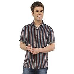 Attila Men's Casual Shirt (11064997S0_Blue Maroon_44)