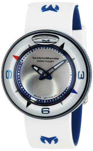 Technomarine AquaSphere Reloj unisex cuarzo suizo 42mm analógico correa de silicona color blanco TM-813001