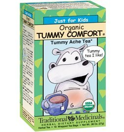 Organic Tummy Time Tea for Kids - Traditional Medicines Stomach Ache Relief for Kids