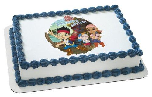 1 X Jake & the Neverland Pirates Disney Jr. Edible Cake Image Topper